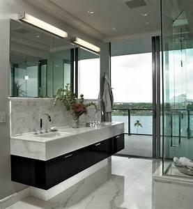 meuble double vasque 50 idees amenagement salle de bain With salle de bain design avec vasque marbre gris