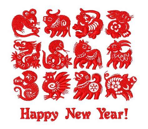 new year symbol new year symbols embroidery design annthegran