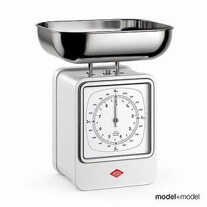 3D Wesco Retro Scale And Clock CGTrader