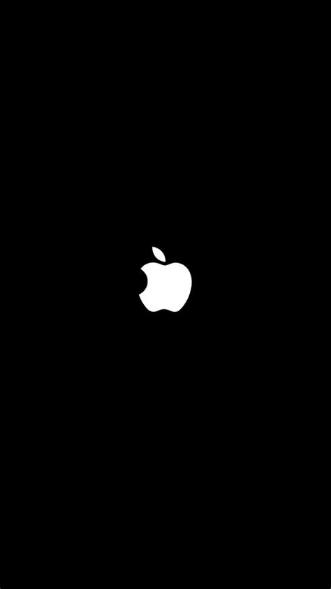 Black Wallpaper Iphone For by Wallpaper Black Apple For Iphone 7 3d Iphone Wallpaper