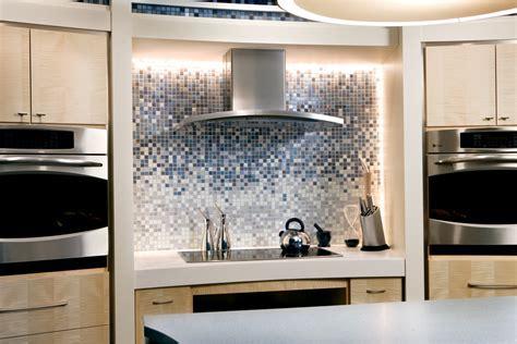 GE Gradient Glass Tile Kitchen Backsplash