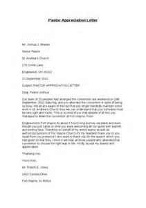 Pastor Appreciation Letter Sample