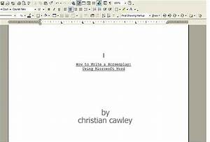 how to format scripts in word 2010 With microsoft word screenplay template