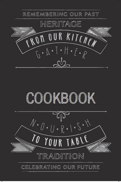 cookbook cover designs templates covers heritage cookbook