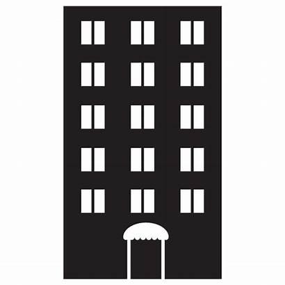 Apartment Vector Building Clipart Residential Clip Complex