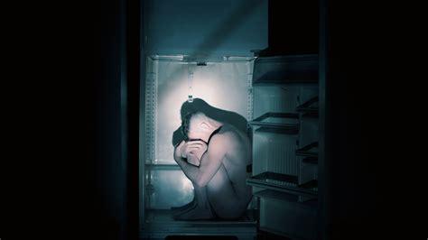 sad man sitting  fridge  hd wallpapers hd