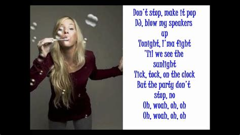 Tik Tok - Glee Cast - Lyrics - YouTube
