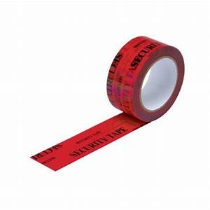 Tamper Evident Security Tape 48mm x 50m OPENVOID (Red ...