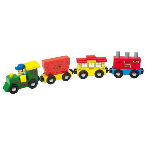 wooden train  driver toy  leomark