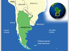 Map of Argentina Terrain, area and outline maps of
