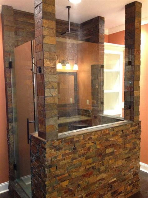 man cave shower remodel