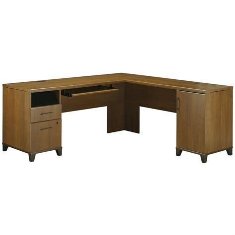 computer desk l shaped bush achieve 70 quot l shape warm oak computer desk ebay