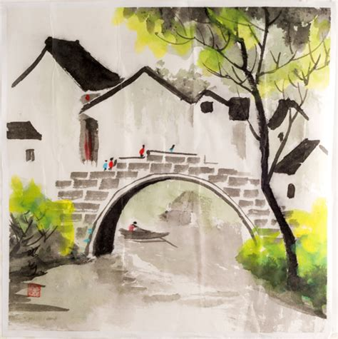 Paintings Home Decor by Watercolor Painting Rural Home D 233 Cor