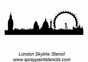 London Skyline Stencil Outline Version Pictures