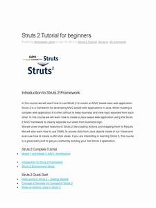 Manual Struts 2 Tutorial For Beginners Docx