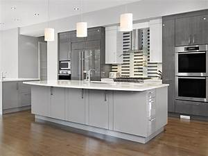 Kitchen Off White Cabis On Distressed Wall Black Gray