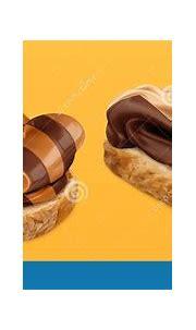 Chocolate Swirl Duo Spread On Bread 3d Vector Realistic ...