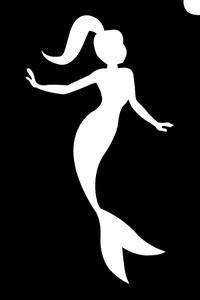 Mermaid Princess - Stencil (1pc) - Hokey Pokey Shop