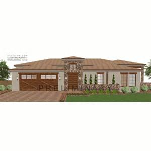 modern house plans with courtyard modern courtyard house plan