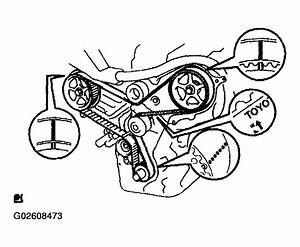 2004 Toyota Sienna Serpentine Belt Routing And Timing Belt Diagrams