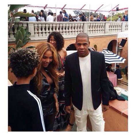 Beyoncé & Jay Z at The Roc Nation Pre-GRAMMY brunch Feb ...