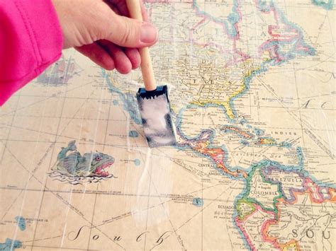 Cool Diy Map Tables.... Definitely Gonna Do This To The