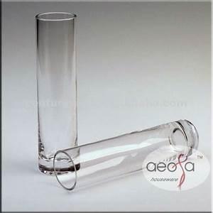 Vase Haut Pas Cher : pas cher ronde tube verre clair vase pour arrangements floraux vases en verre cristal id de ~ Teatrodelosmanantiales.com Idées de Décoration