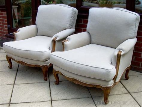 A Pair Of French Bergere Style Armchairs