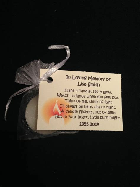 Gedicht Kerze Licht by 10x Light For A Funeral Gift Favour Gift Candle