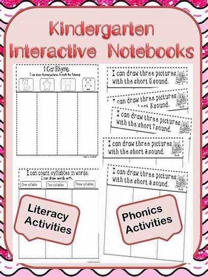 Kindergarten Interactive Notebooks Notebook Math Kinder Activities