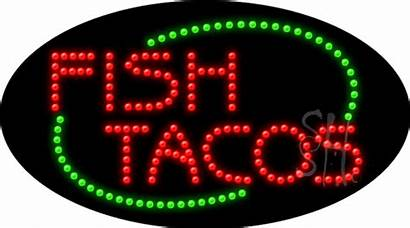 Sign Tacos Fish Animated Led Neon Signs