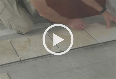 how to install ceramic and porcelain floor tile at the
