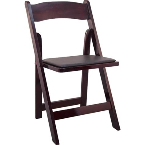 mahogany wood folding wedding chair padded wedding