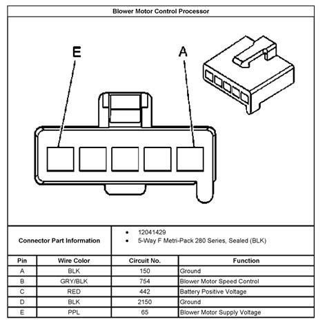 wiring diagram    impala blower resistor
