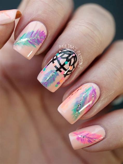 creative feather nail art designs hative