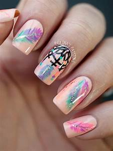 creative feather nail designs hative