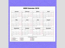 Free School Holidays Calendar 2019 NSW Download Templates