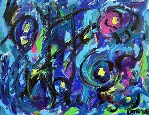Abstract Color Musical Notes Art Painting
