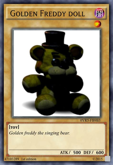 Give them the gift of choice with a freddy gift voucher card. Golden Freddy doll   Fnaf, Fnaf funny, Pokemon cards