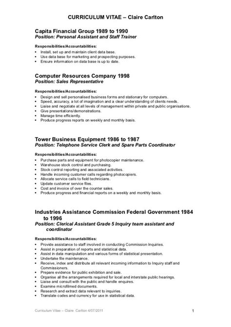 clerical resume 28 images resume clerical jan 2015