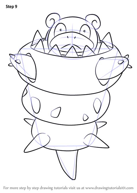 learn   draw mega slowbro  pokemon pokemon step  step drawing tutorials