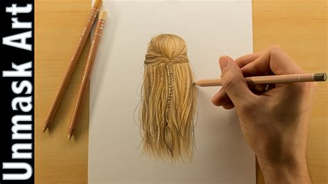 how to color how to color hair colored pencil drawing time