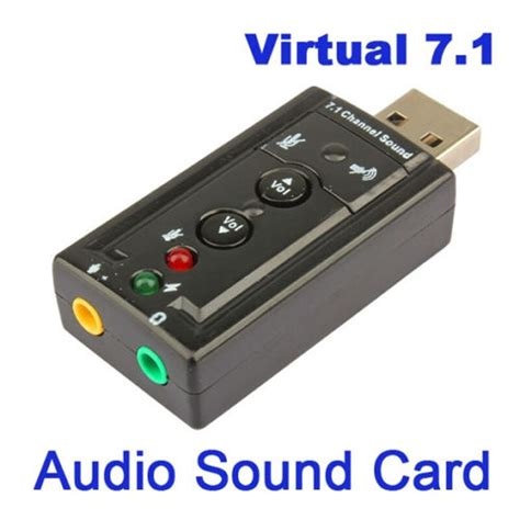 usb sound card sound card 7 1 channel 3d external usb audio sound card adapter 3 5mm stereo headset 847220035807 ebay