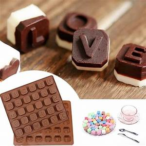 cake tools letters chocolate mold 1pcs mini silicone cake With chocolate letters for cakes