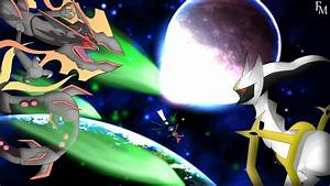 Shiny Rayquaza versus Arceus Wallpaper by FyazMostofa on ...