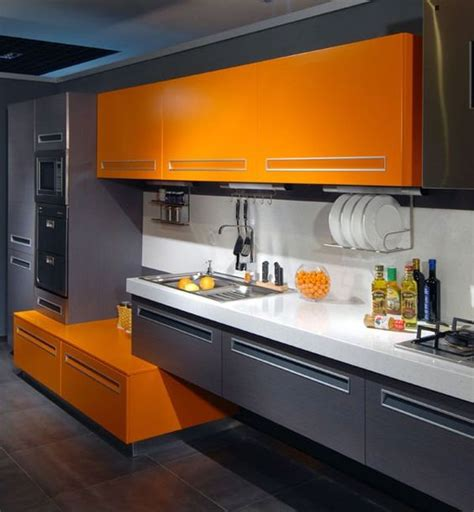 Kuche Orange by 27 Cheerful Orange Kitchen Decor Ideas Digsdigs