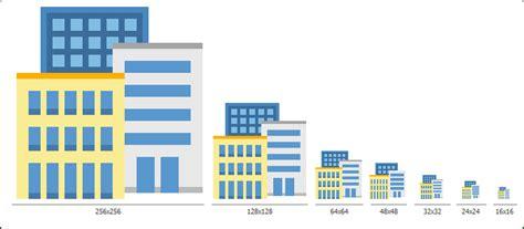 flat buildings icon set  custom icon design service