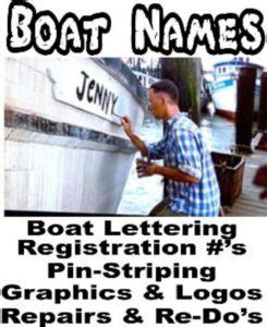 Pinellas County Florida Boat Registration by Boat Name Ideas Boat Name Design Install Ta