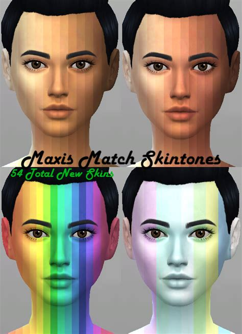 Maxis Match 54 Skintones By Kitty25939 At Mod The Sims