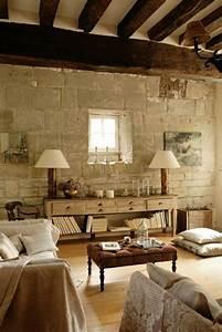 Mur En Pierre Interieur Moderne : le mur en pierre apparente en 57 photos pierre de parement interieur parement int rieur et ~ Melissatoandfro.com Idées de Décoration
